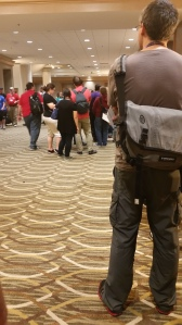 Writers wait to begin their next seminars at the Westin in Indy during Gen Con 2016.