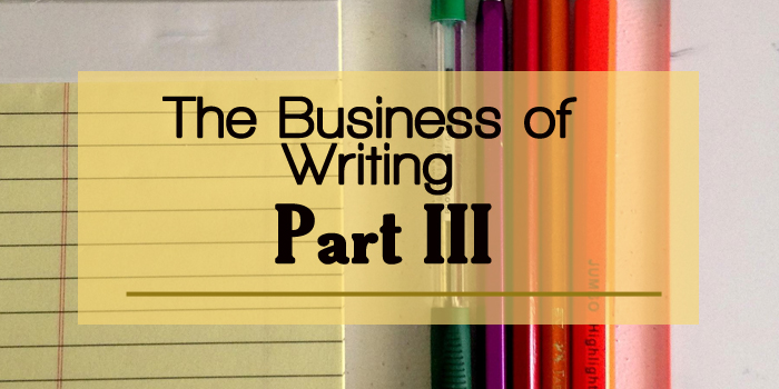 The Business of Writing Part 3 Basic Header