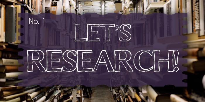Let's Research No. 1 Header