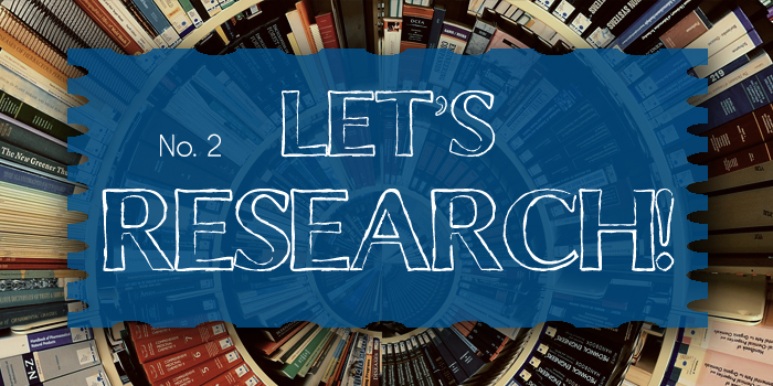 Let's Research series generic header image featuring books