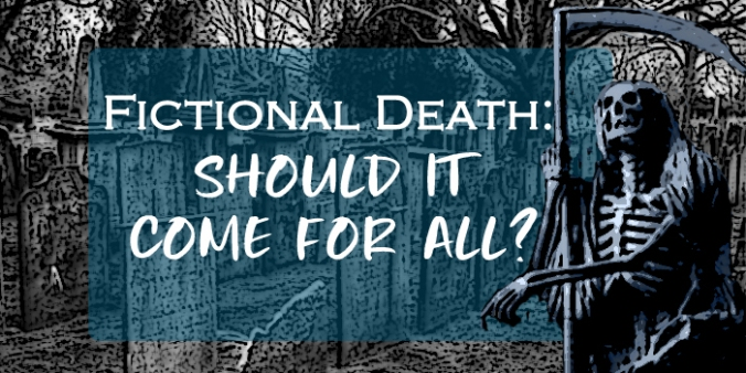 Fictional death header with grim reaper