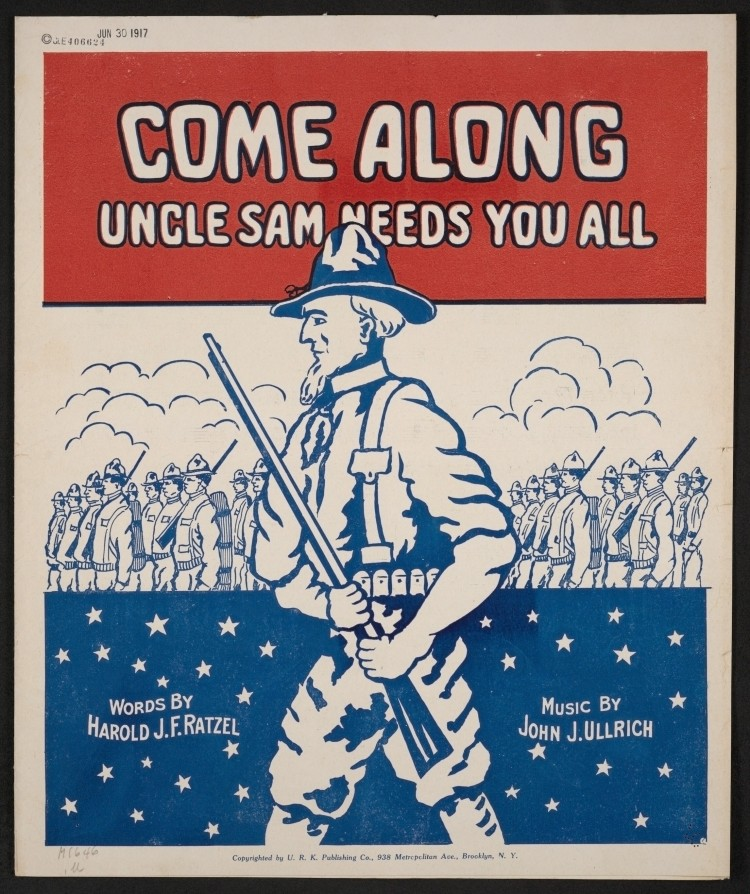 Uncle Sam sheet music cover from WWI.