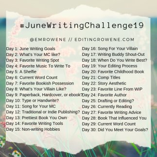 JuneWritingChallenge19