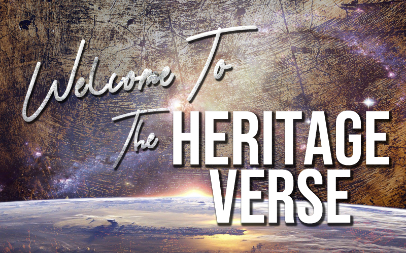 Welcome to the Heritage Verse text banner.